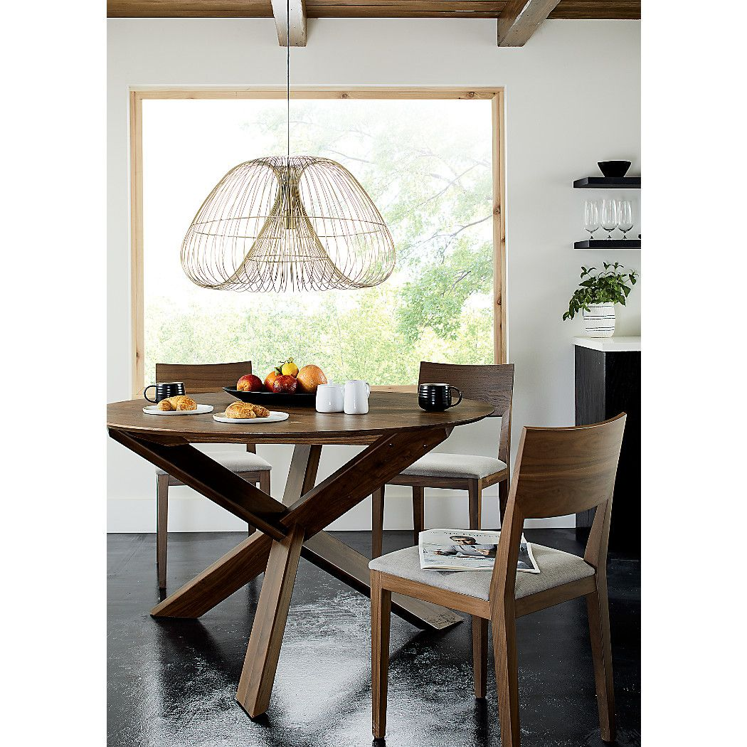 Apex 51 Round Dining Table Reviews Crate And Barrel Klismos Dining Chair Dining Table Round Dining Table