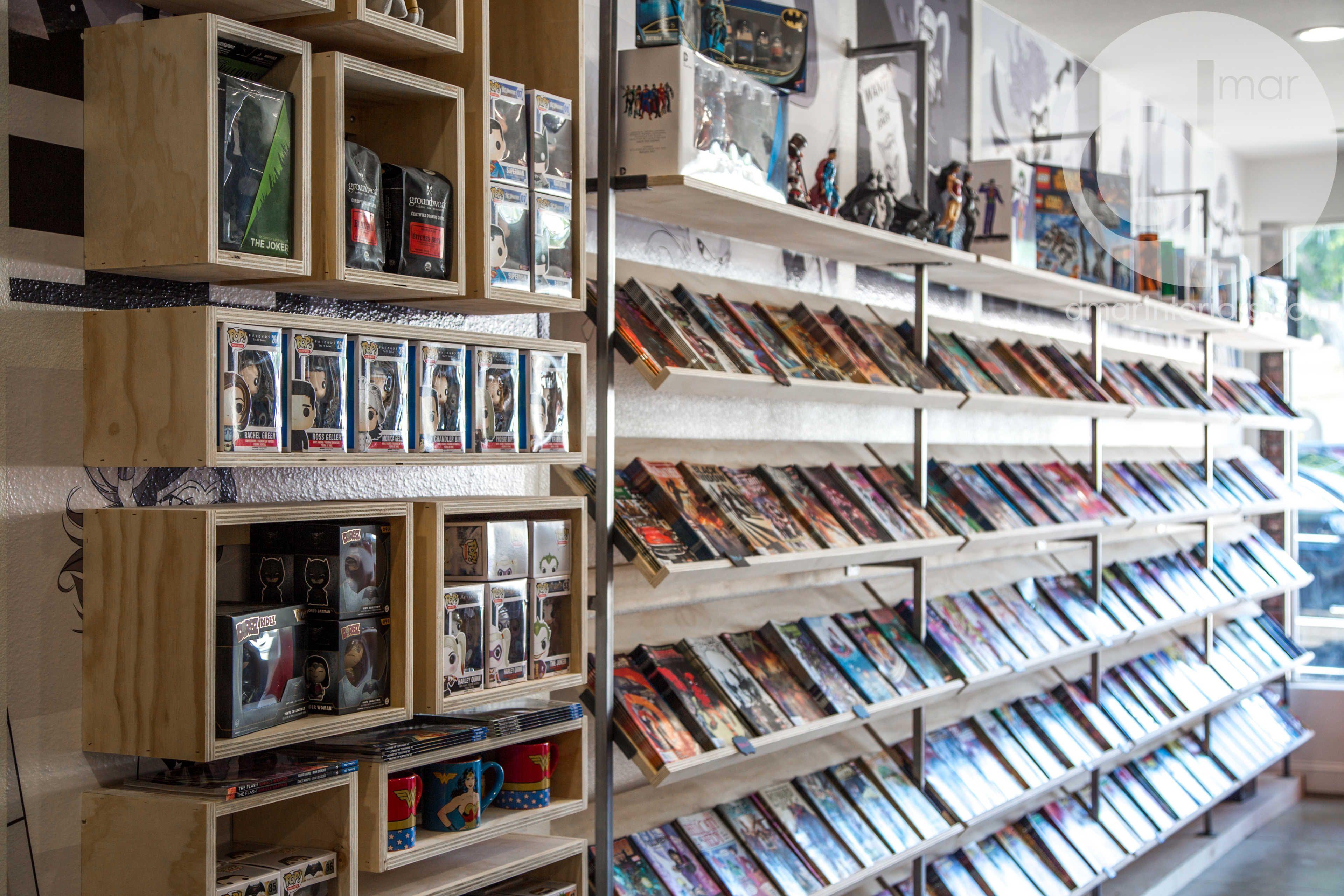 Custom Storage Boxes Raw Wood And Metal Comic Book
