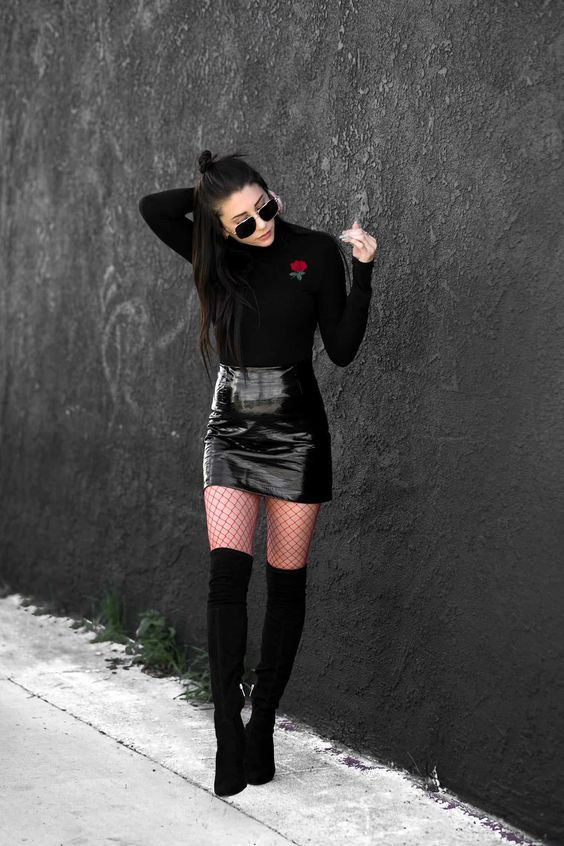 194c4af6e5f 80 Best Skirt and Boots Combinations for Fall and Winter Outfits - Fashion  Best
