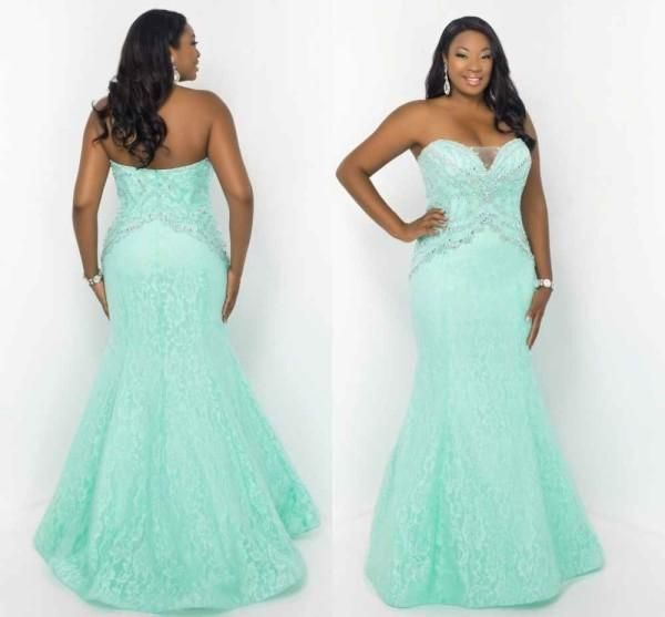 Plus size mint green maxi dresses