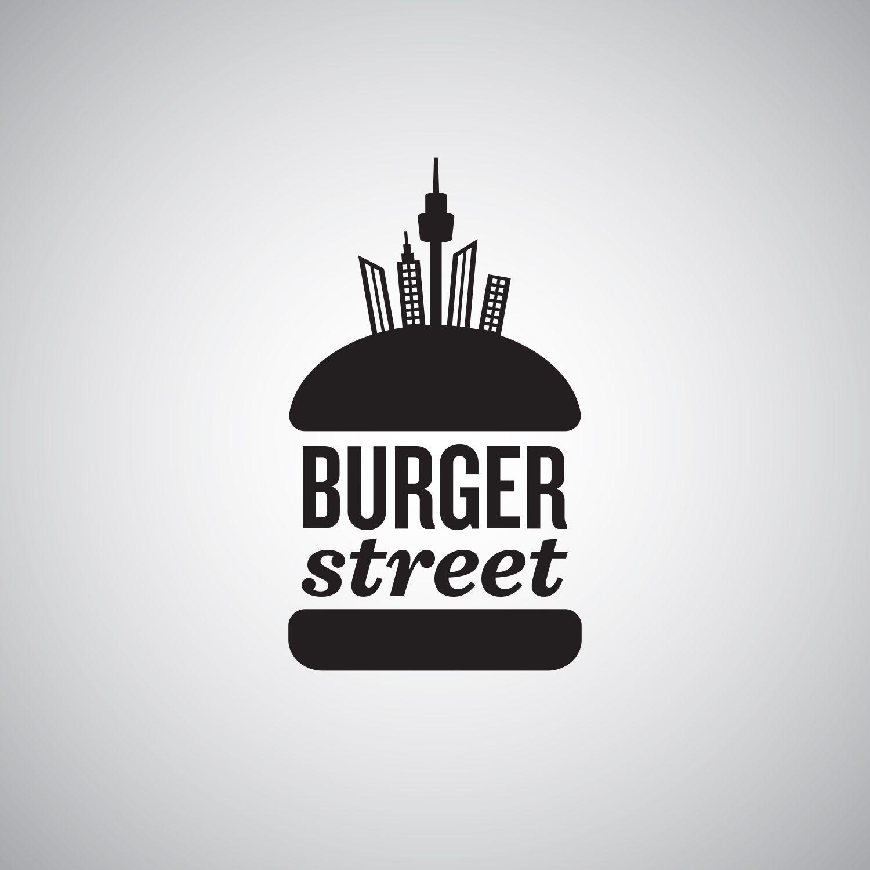 Burger street logo hamburguer logo burguer