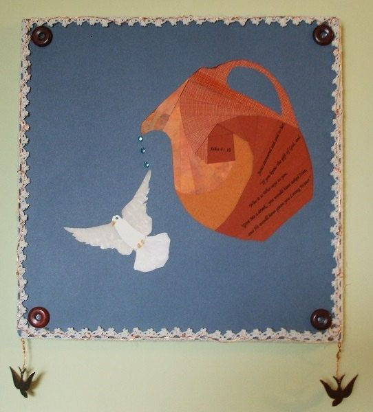 Living Water Mixed Media Collage Wallhanging by GodsCollage, $25.00