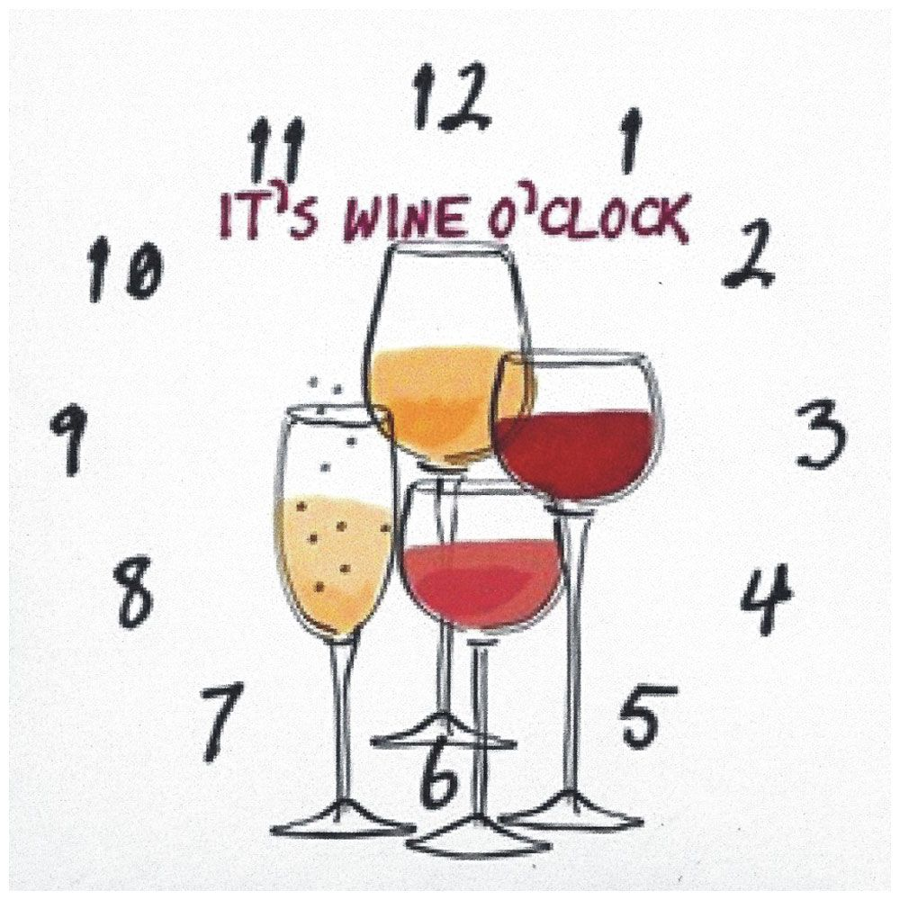 it u0026 39 s wine o u0026 39 clock  12 hrs   mirrors n glass
