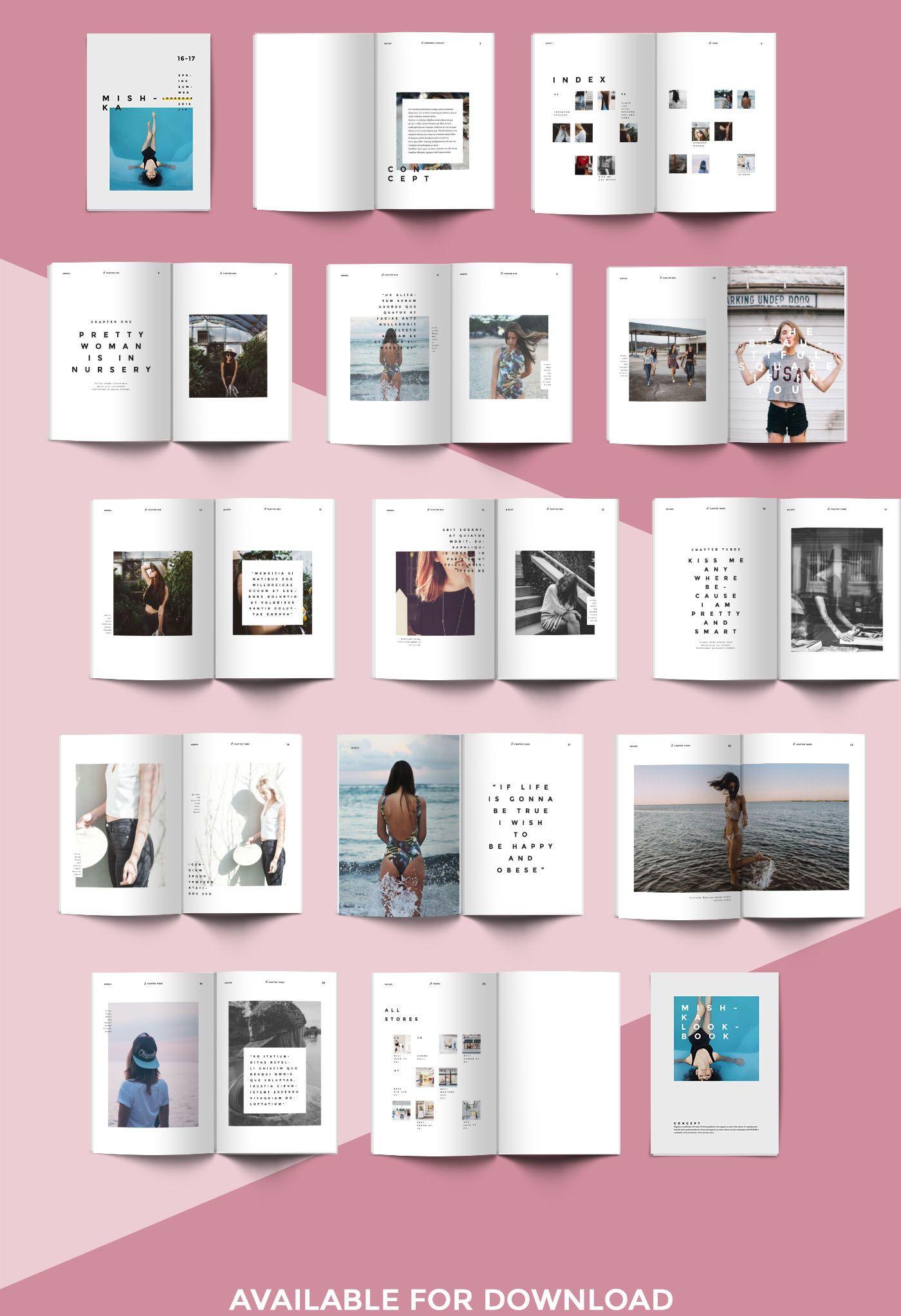 online lookbook template
