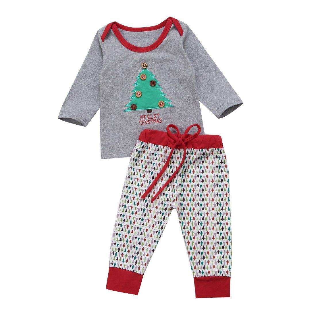467a37f9f13d4 Baby Clothes Set 2pcs Toddler Baby Boy Kids Christmas Tree T-shirt ...
