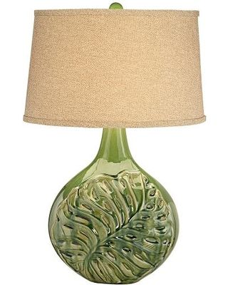Universal lighting and decor palmier olive green ceramic table universal lighting and decor palmier olive green ceramic table lamp from lamps plus bhg mozeypictures Image collections