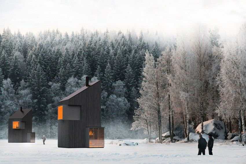 A Modern Winter Shelter by FO4A Architecture