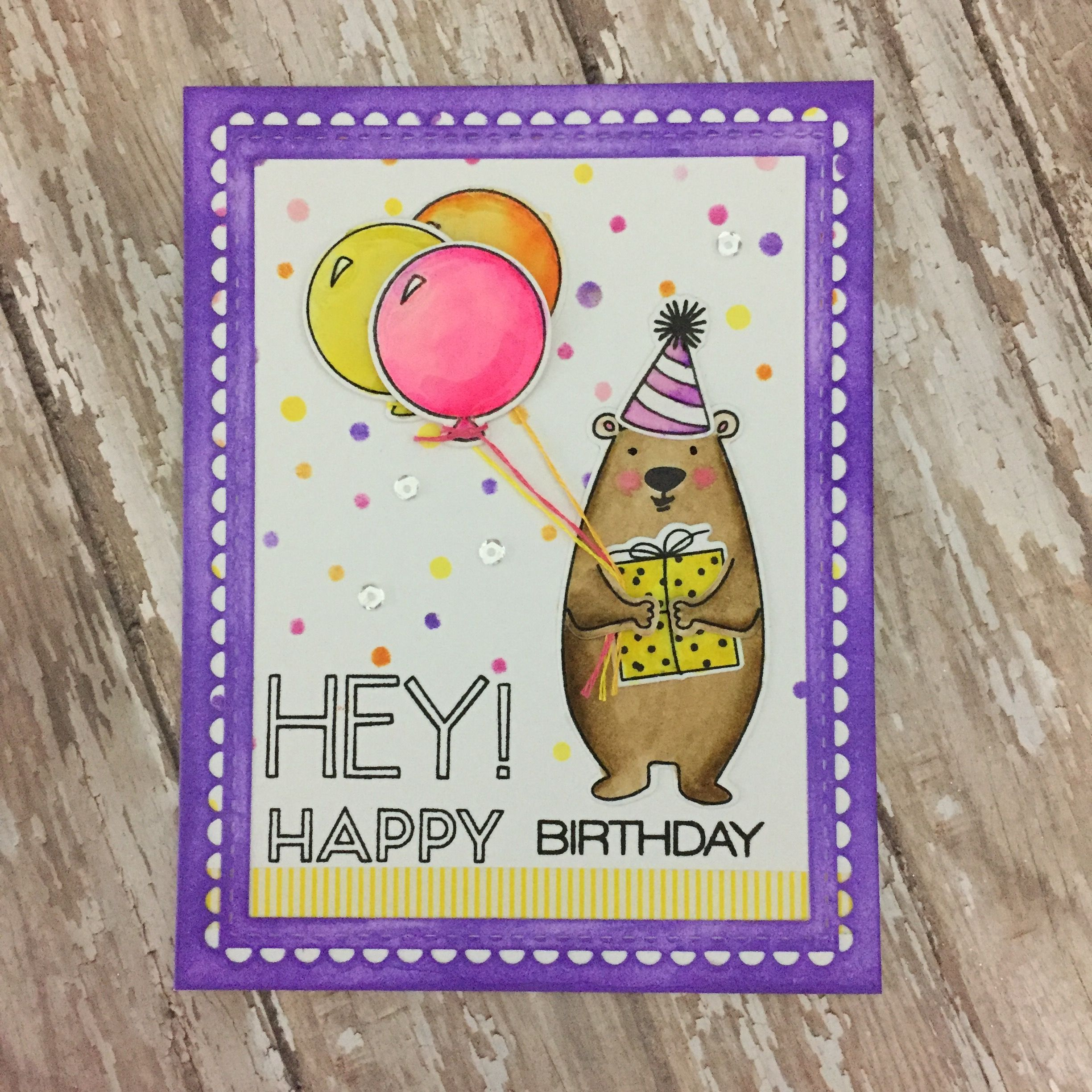 Happy Birthday Handmade Card With Essentials By Ellen All Inside