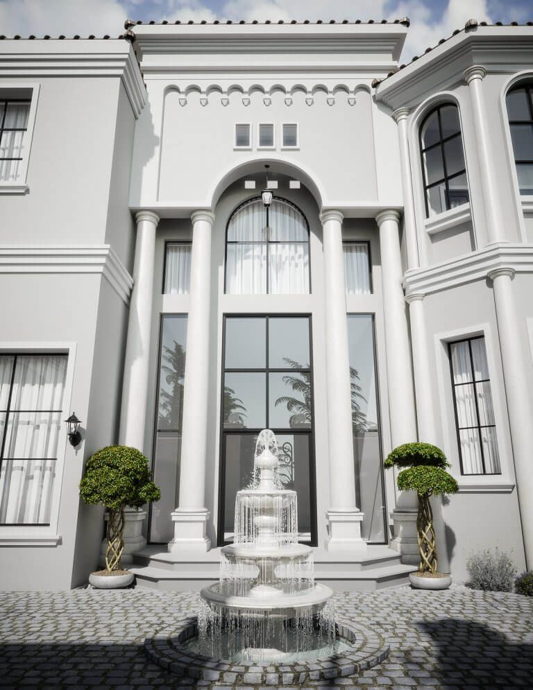 Mediterranean Arabic House Design Home Exterior In Riyadh Saudi Arabia Cas Classic House Design Classic House Exterior House Exterior