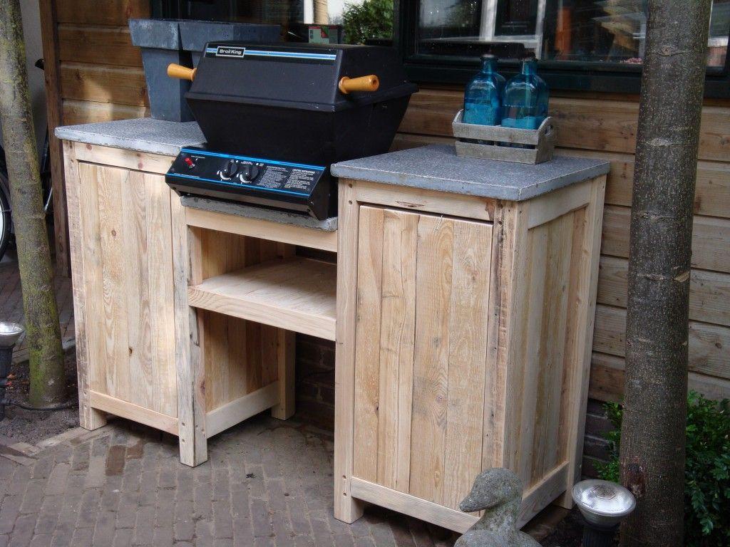Timmerbedrijf schinkel buitenkeuken van steigerhout outdoor