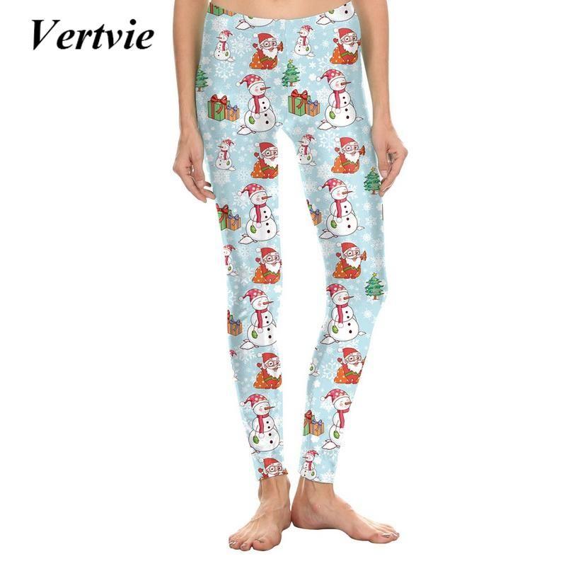 Vertvie Snowflake Digital Print Women S Christmas Yoga Pants
