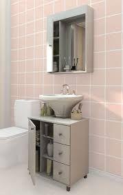 Resultado De Imagem Para Armario Para Banheiro Com Pia De Coluna