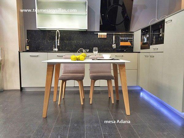 Mesa de estilo moderno con aire nordico escandinavo para - Mesa extraible cocina ...