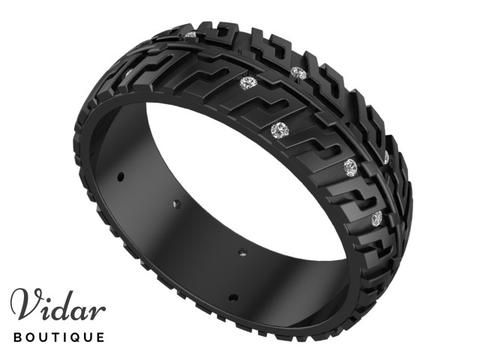 Unique Men S Wedding Ring For Car And Racing Lovers Car Tire