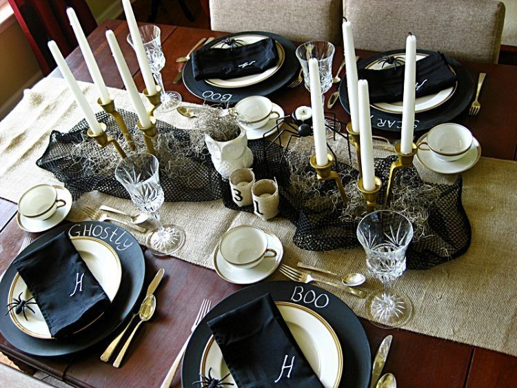 20 Halloween Themed Table Setting Ideas Scary halloween - halloween ideas party