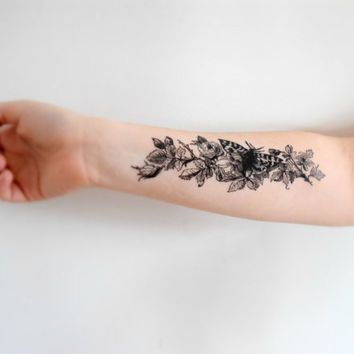 temporary butterfly plant tattoo on forearm butterfly weed tattoo designs pinterest plant. Black Bedroom Furniture Sets. Home Design Ideas