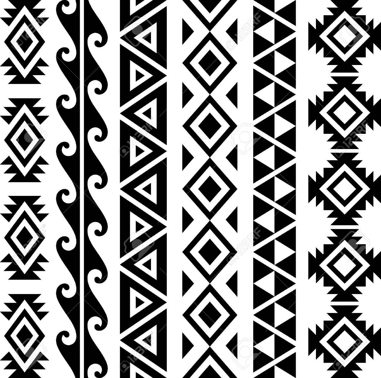 Hawaiian Seamless Patterns Collection Aff Seamless
