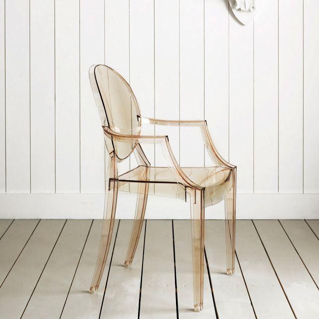 Beautiful Louis Ghost Chair Transparent | Stardust Modern Design Transparent Sunset  Orange