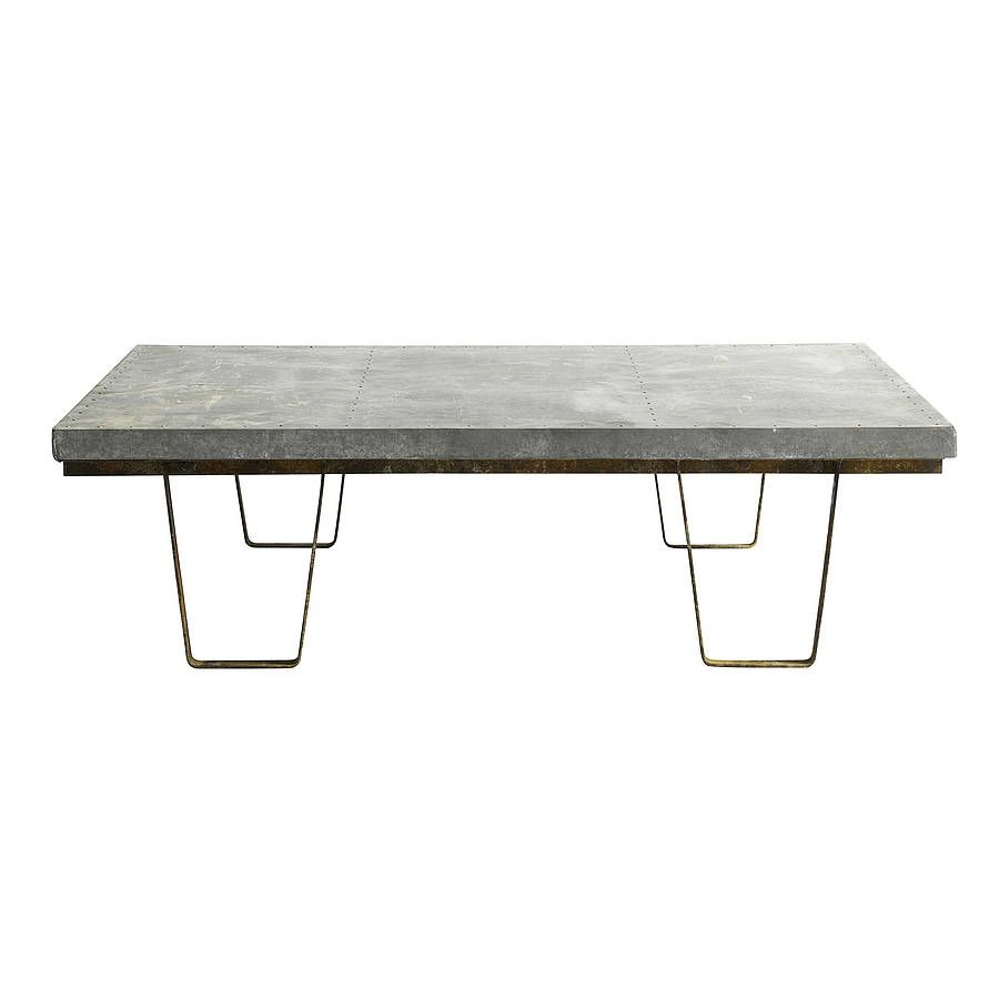 Large Zinc Topped Warehouse Coffee Table By Out There Interiors For