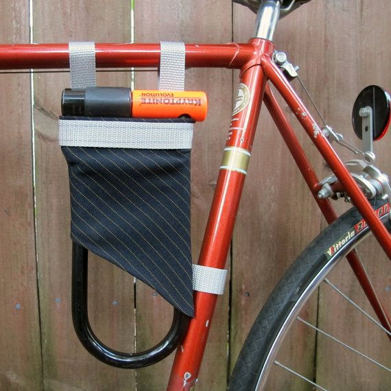 U Lock Holder Dark Blue And Silver Blue And Silver Bike Lock