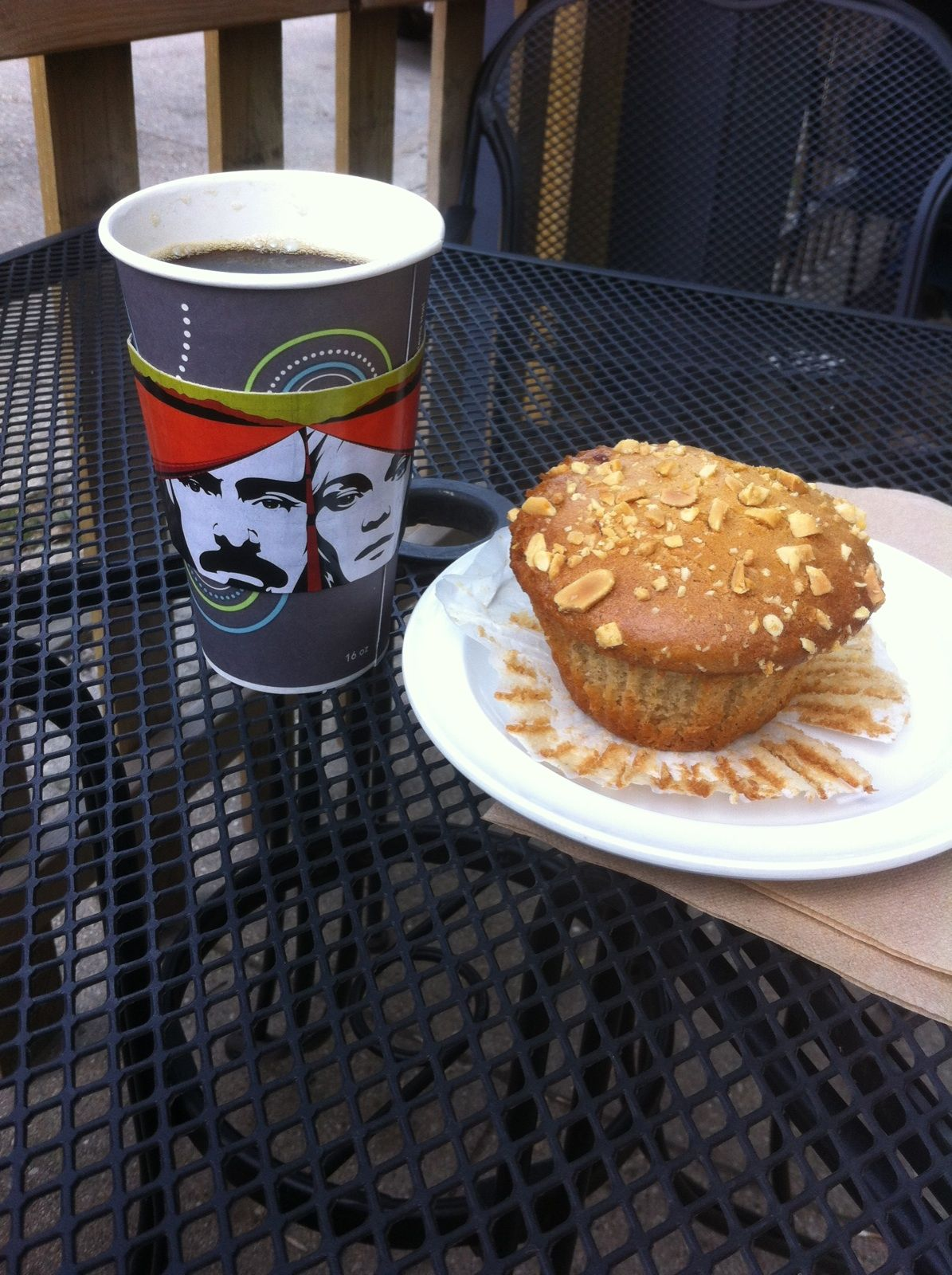 Met friend Richard for coffee (and a yummy peanut butter