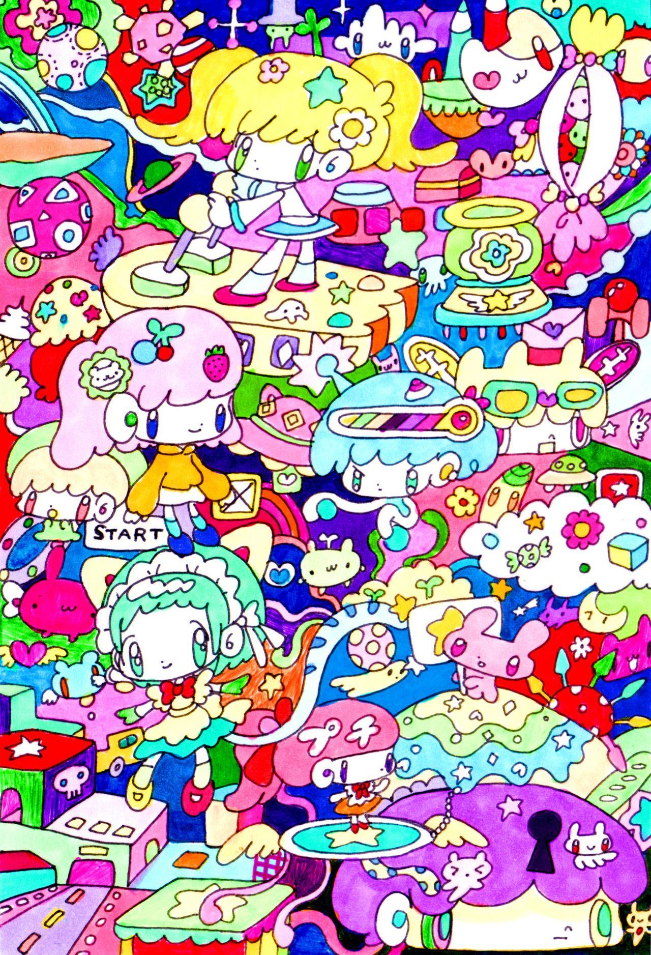100 pucoli 壁紙 かわいい イラスト かわいいイラスト