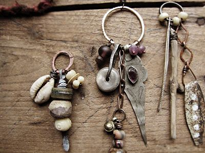 """""""handmade romantic tribal jewelry...    Sparrow Salvage is a place for eco-friendly, artisan jewelry inspired by the character of an English cottage- rustic textures, faded colour, simple techniques and natural materials. I use largely vintage, antique and re-claimed materials; with these trinkets of the past I build up layers of time and history, much like a cottage is furnished with pieces down through the years."""""""