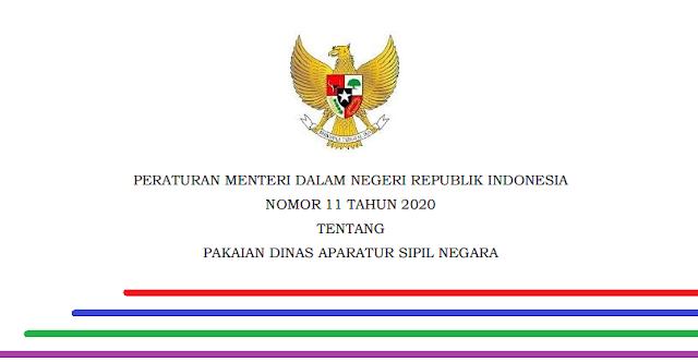 Berdasarkan Peraturan Menteri Dalam Negeri Republik Indonesia Permendagri Nomor 11 Tahun 2020 Tentang Pakaian Dinas Aparatur S Indonesia