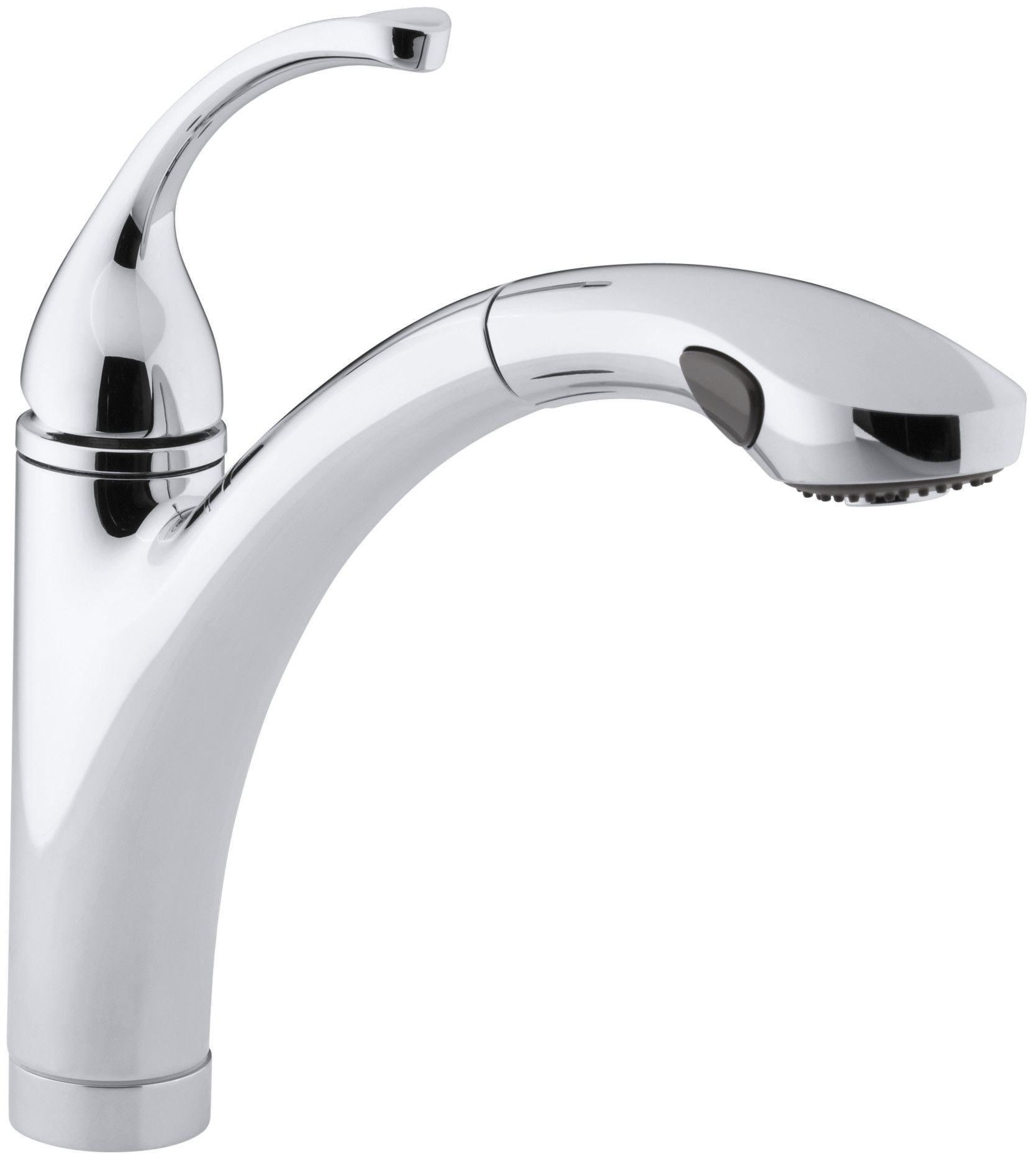 "Forté Single-Hole or 3-Hole Kitchen Sink Faucet with 10-1/8"" Pullout Spray Spout"