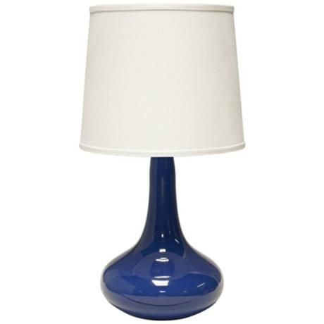 Haeger Potteries Gene Ceramic Blue Table Lamp 3c771 Lamps Plus Table Lamp Lamp Blue Table Lamp