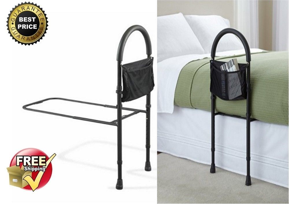 Bed Assist Rails Elderly Adult Seniors Handicap Adjustable Bedrail