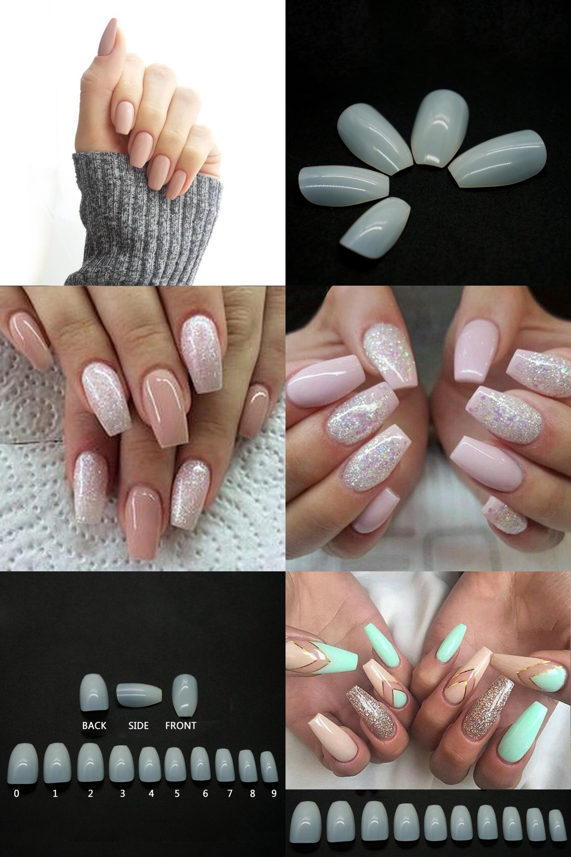 Visit to Buy] 500pcs Fashion Fake Nails Press On Girls Finger Beauty ...