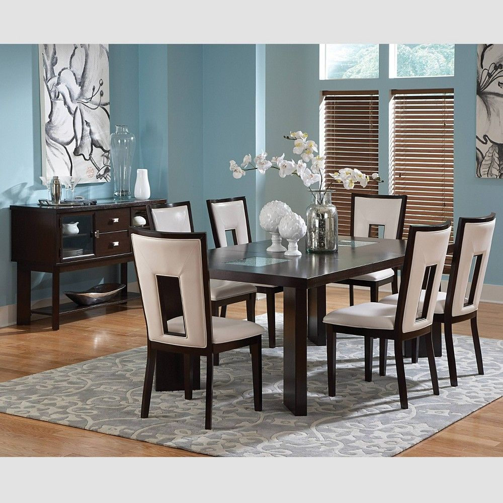 7pc Broward Dining Set Espresso Cherry - Steve Silver | Cheap