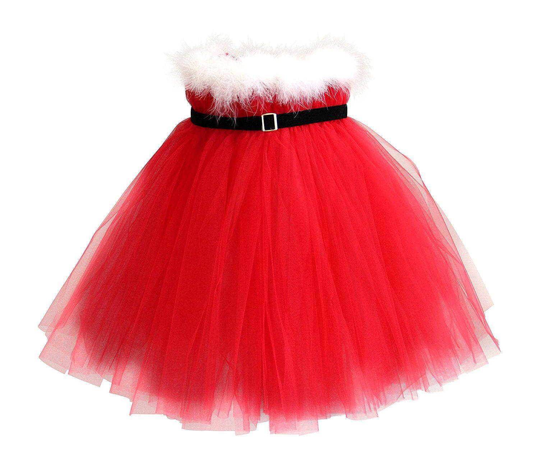 c8ff2b04f Amazon.com: Christmas Santa Tutu Dress: Toys & Games | CHRISTMAS ME ...