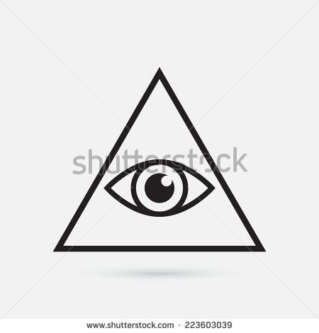 All Seeing Eye Symbol Simple Triangle Vector Illustration Tattoo