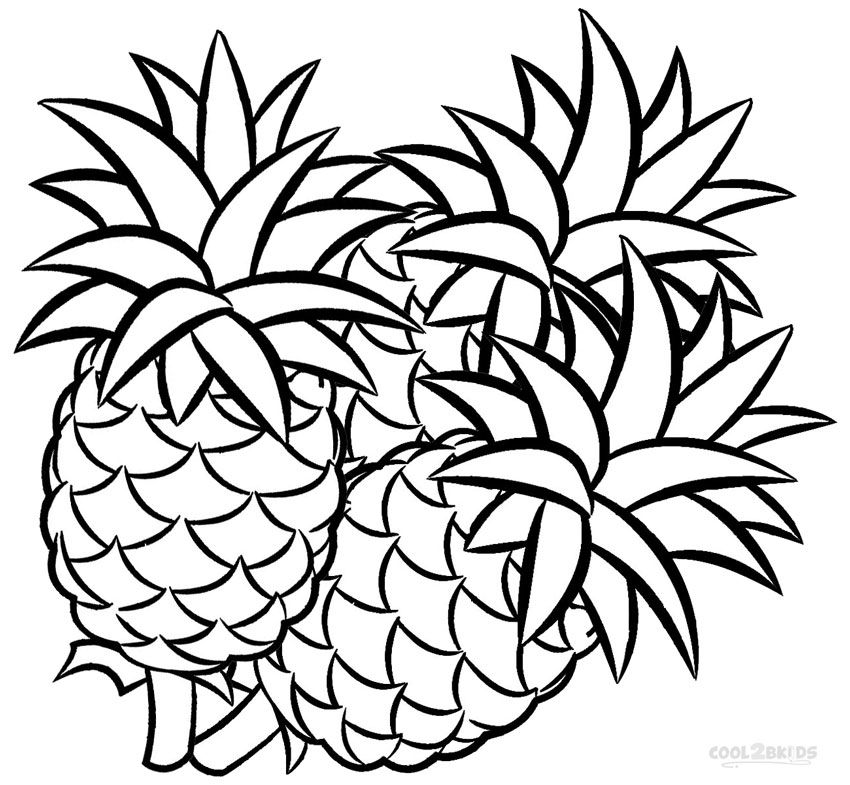Pineapple Coloring Pages Coloring Pages For Kids Apple Coloring