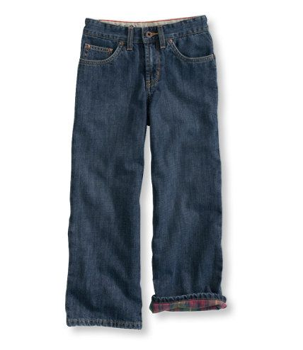 Boys' Double L Straight-Leg Jeans, Lined: Pants | Free Shipping at L.L.Bean