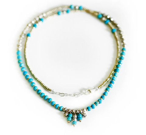 CLEO necklace - turquoise | Kei Jewelry