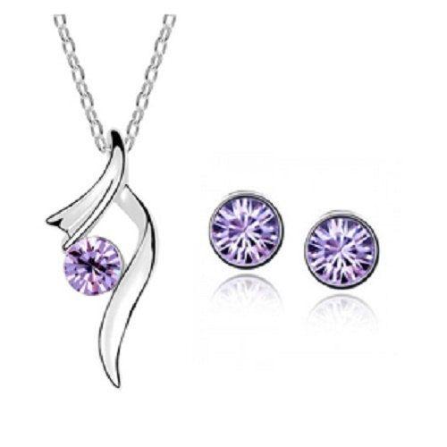 Amethyst Necklace Earring set