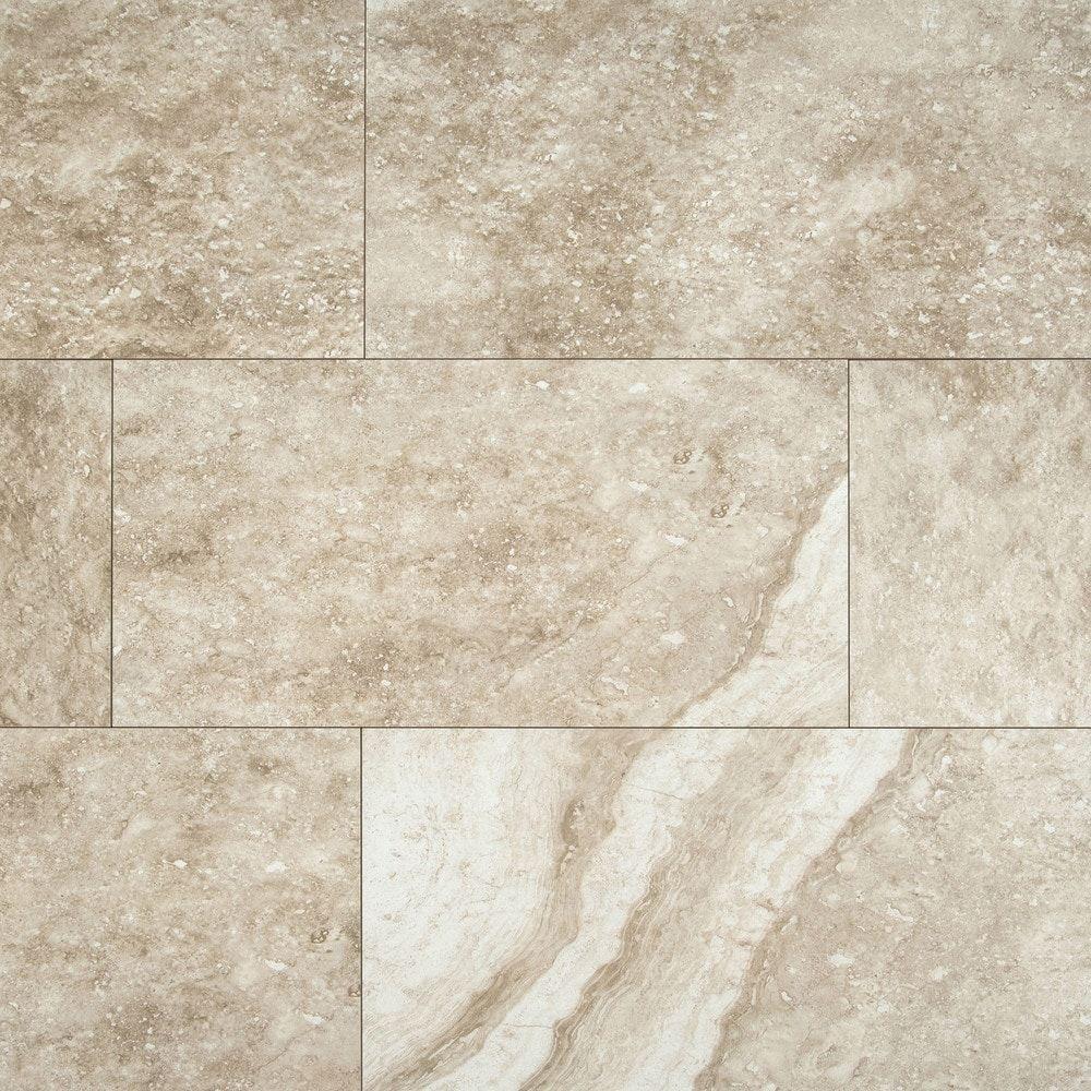 Atrium Kios Gris Glazed Porcelain Floor Tile: MS International Ceramic Tile - Aliso Series