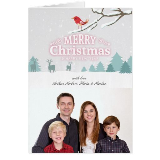 Snow Wonderland Christmas New Year Photo Greeting Card