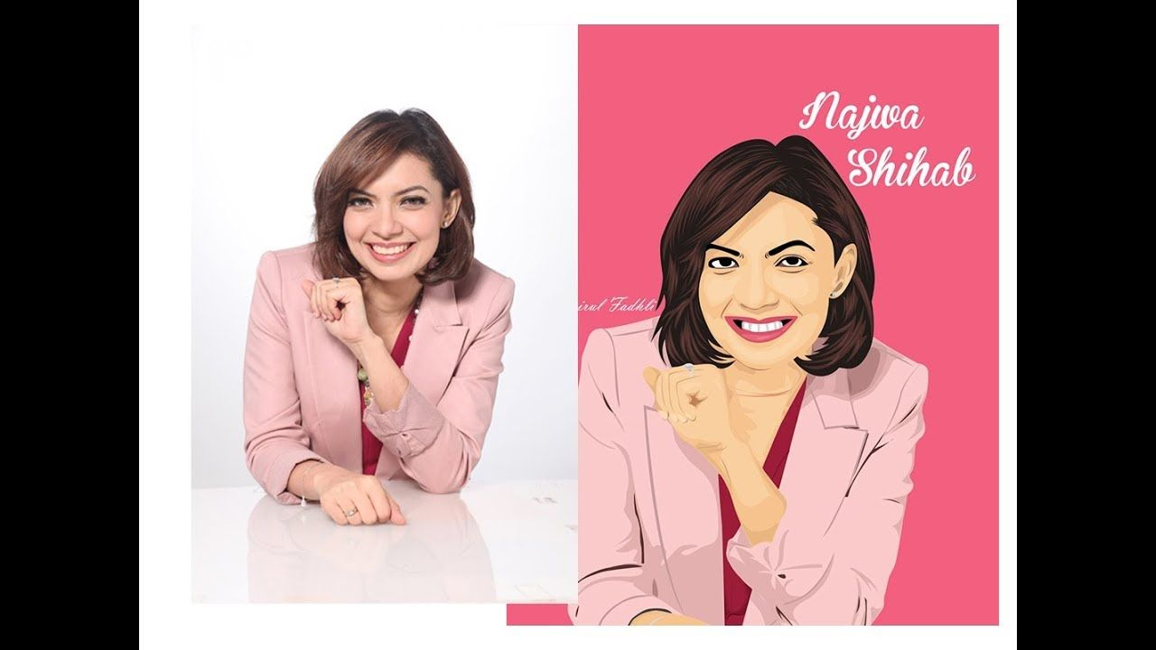 Speed Art Vector Najwa Shihab