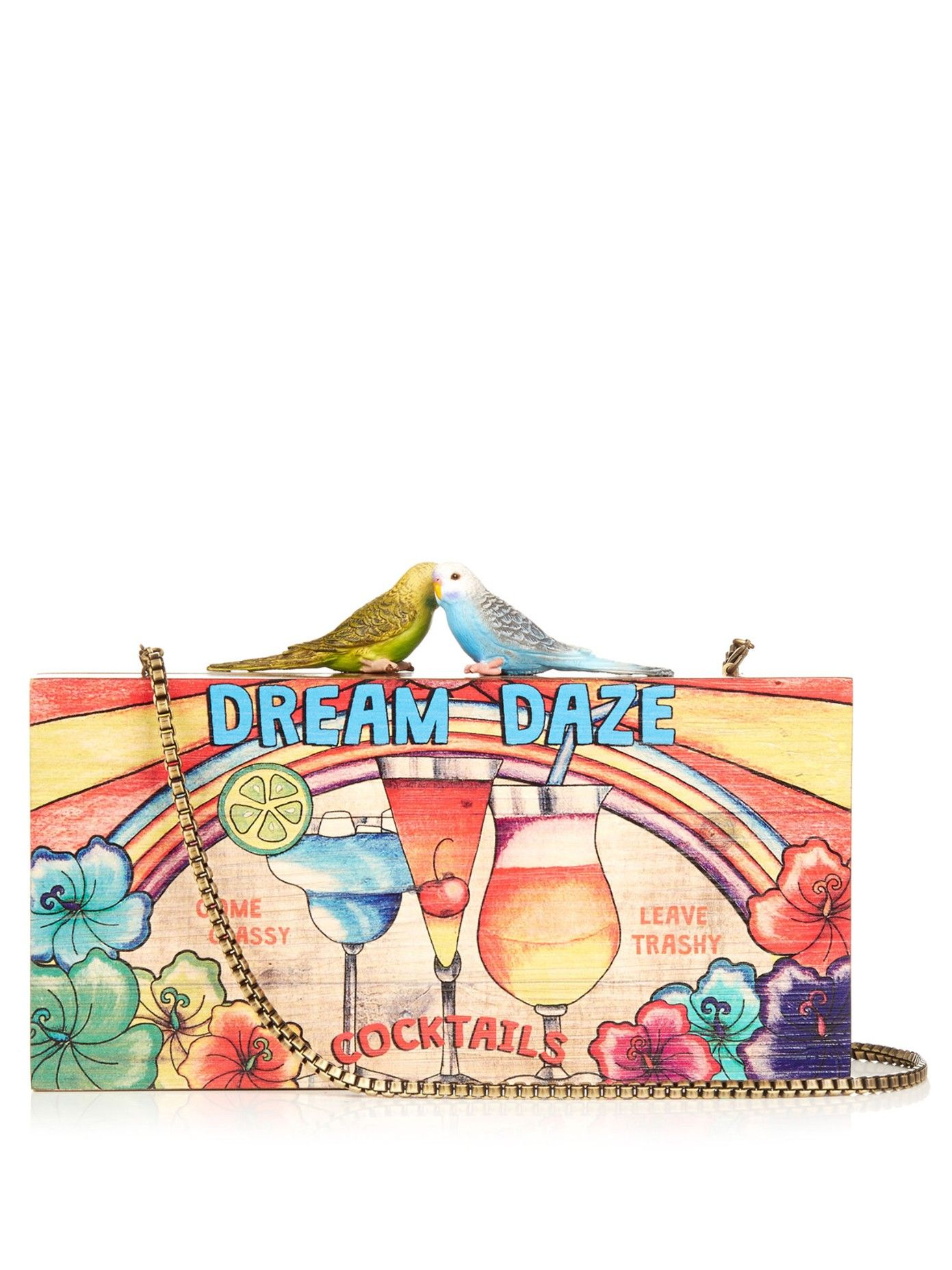 SARAH'S BAG Dream Daze wooden clutch