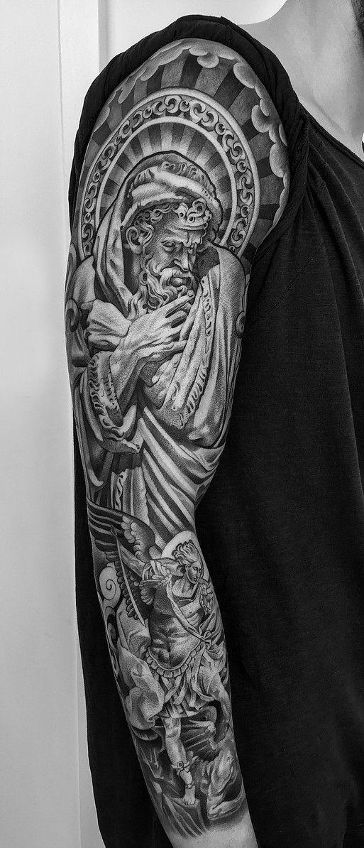 saint Michael tattoo Lil b tattoo, St michael tattoo