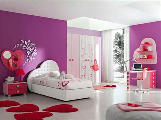 Pink Purple Bedroom For Girls