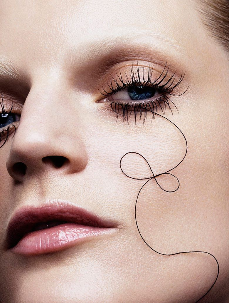 The Vogue Japan Marcus Ohlsson Photoshoot Displays Offbeat Beauty #makeup trendhunter.com