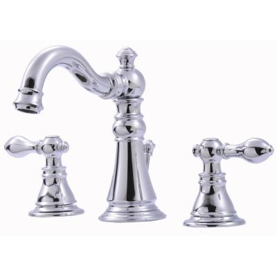 Ultra Faucets Signature Collection 8 In Widespread 2 Handle Bathroom Faucet With Pop Up Drain In Chrome 15710080 Bathroom Faucets Brass Bathroom Faucets Widespread Bathroom Faucet
