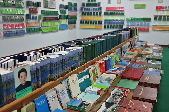 When photographer Roman Harak visited this book shop in North Korea in 2010, he discovered you could only buy books written by two people: North Korean founder Kim Il Sung and his son Kim Jong Il.