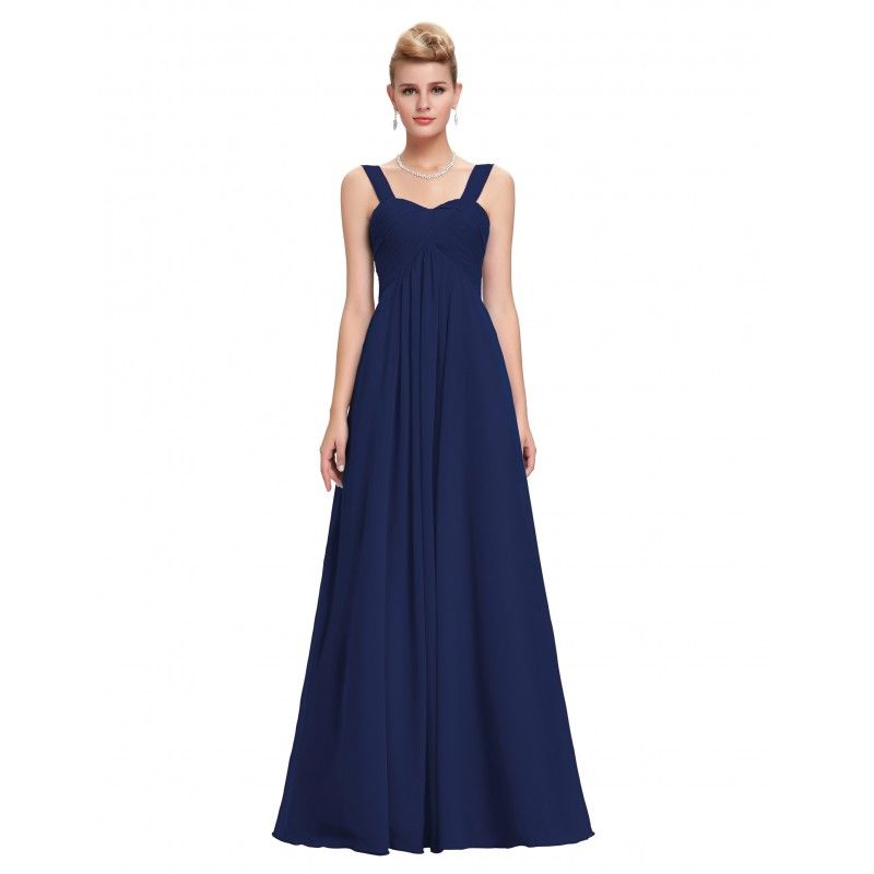 3fa8b0b8859 Tmavomodré spoločenské šaty CL3466