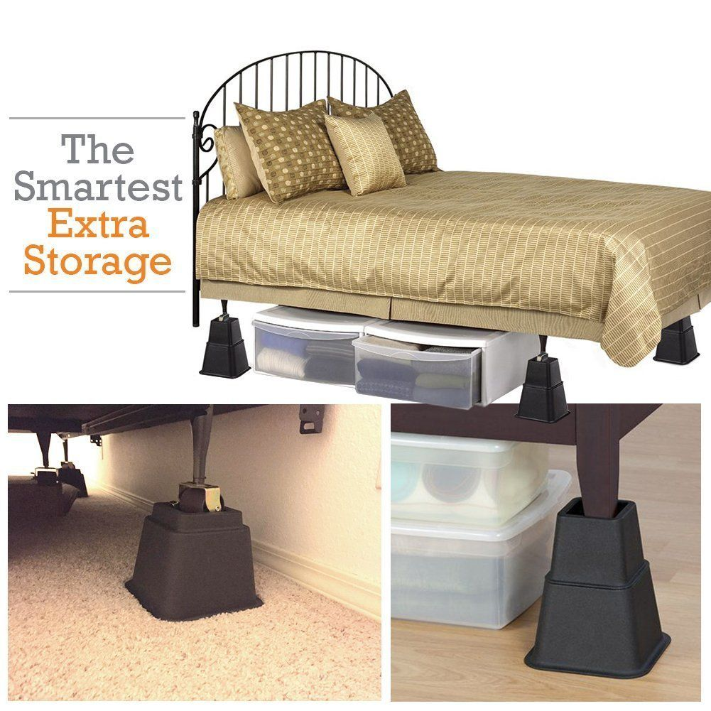 Amazon Com Aqm Home Adjustable Bed Risers Or Furniture Riser Bed
